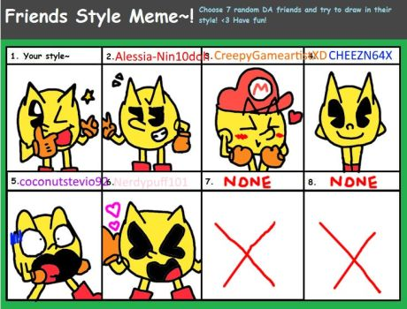 Friends Style Meme with Pac man by genny03