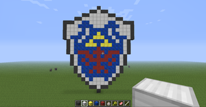 Hylian Shield (Minecraft) by slygirl1999