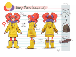 Ruby Maris [Ref Sheet] by level5pencil