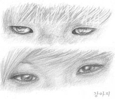 Onew's and Taemin's eyes by Vampiano