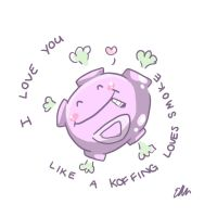 Koffing Valentine by Moo-feeler
