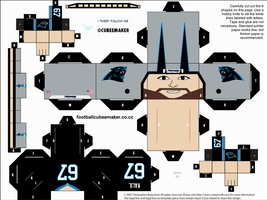 Ryan Kalil Panthers Cubee by etchings13