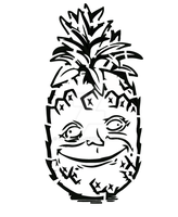 Stoned Pineapple Stencil by cytherina