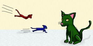 20XX Cats: MedeusCat Does Not Want to be Here