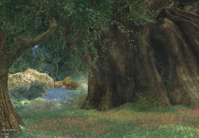 The magical glade by TalieTramontane