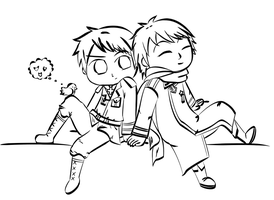 APH Chibi pRussia Lineart by WonderfulMelody8
