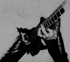 Random guitar player WIP 1 by MarcLof