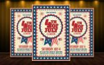 4th of July A4 Flyer/Poster by MatteoGianfreda94