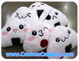 Onigiri plushie pile by The-Cute-Storm