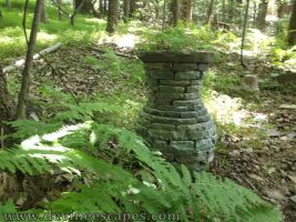 stacked stone garden vase by Devine-Escapes