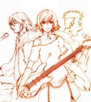 Band Trio by AKirA-FreedoM