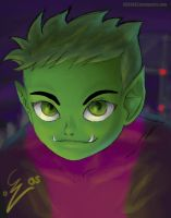 Beastboy Portrait Practice by cgcoast