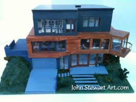 Twilight Cullen's house scale miniature by johnstewartart