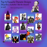 Top 15 Character Designs Meme by ForestBugDA