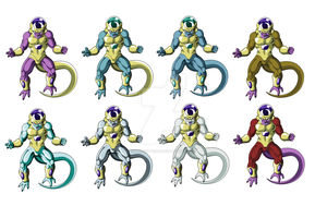 Freezas new form recolors and edits by Moffett1990