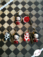 Alice in Wonderland - Queen Earrings by AyumiDesign