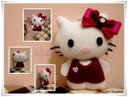 Hello Kitty Plushie Keychain... by SongAhIn