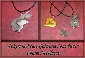 Pokemon Soul Silver Charm Necklace by YellerCrakka