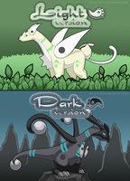 Pokemon Light and Dark version by Reina-Kitsune
