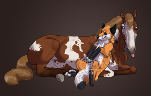 Horse Pose Commission by Ruffian323