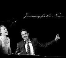 Tom Hiddleston and RDJ: Jamming for the Now by Omnipotrent