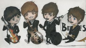 The Beatles-Chibi by Tigers13
