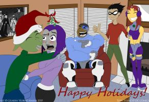 Teen Titans Christmas by Gilarin