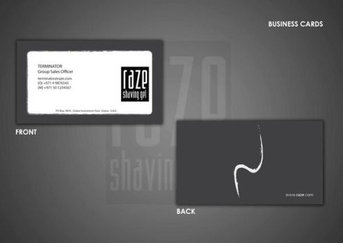 RAZE BUSINESS CARDS by poomeow