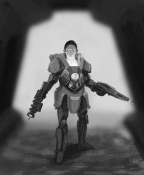 Space marine by jackellice