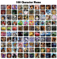 100 Characters Meme by Tanta26