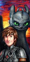 Toothless and Hiccup by Asano-nee