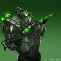 Fallout - The Enclave Soldier by maXKennedy