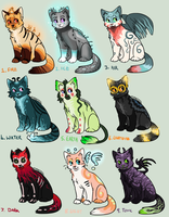 Elemental Cat adopts (CLOSED!) 5-Point start! by Arklen