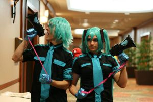 Hatsune Mikus(1) at A-kon23 by Death-the-Girl88