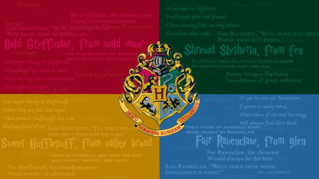 HD Hogwarts Crest and Houses Wallpaper by emily-corene