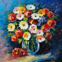 Meeting Love by Leonid Afremov by Leonidafremov