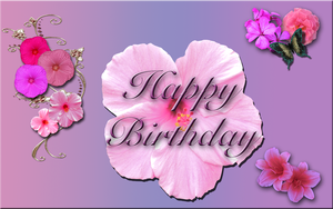 Happy Birthday Flowers Banner by WDWParksGal