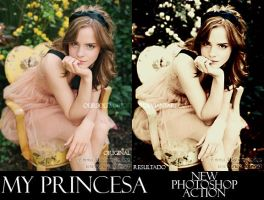 PHOTOSHOP ACTIONS + PRINCESA by oursolemnhour89
