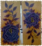 Rose and Key Paintings... by monkeydeathcult