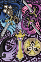 Honedge! Doublade! Aegislash! by efeitostark