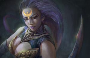 Fan art - Diana- League of Legends. by PhuThieu1989