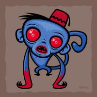 Zombie Monkey by fizzgig