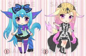 CHIBI : Cute animal 3 Adoptable aution CLOSED by mokona418