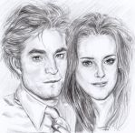 Kristen and Rob sketch by sourcherry1