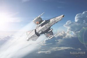 Black Arrow Concept ship 2 by HornosTamas