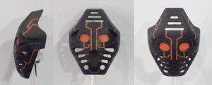 Black Orange Circuit Pakari by ModaltMasks