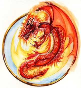 The Fire Dragon by PeaceMakerSama