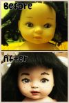 My first doll face by MandieMarie