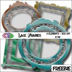 Lace Frame Freebie Digital Scrapbook Elements by only1crisana