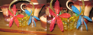Stained glass flowers  with a tea service by Dash-Ing-Nerro
